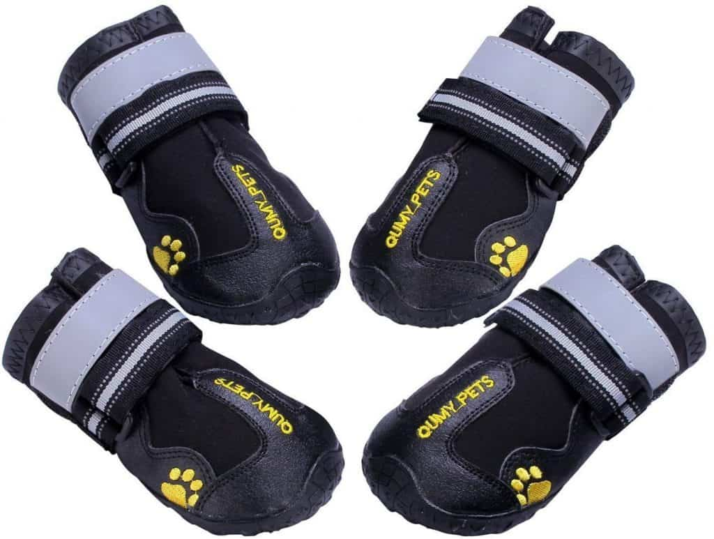 QUMY Dog Boots Waterproof Shoes