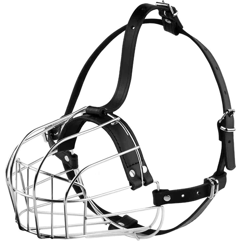 BronzeDog Metal Wire Basket Dog Muzzle