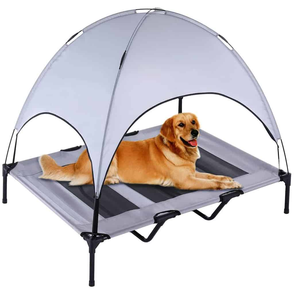 Superjare Portable Outdoor Dog Bed