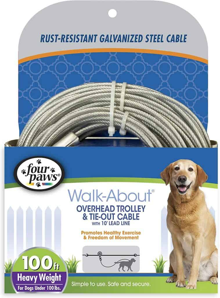 Four Paws Trolley & Tie Out Cable