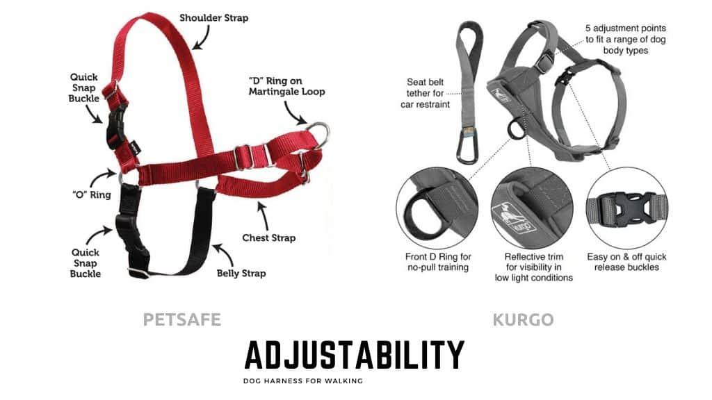 Adjustable Dog Walking Harnesses