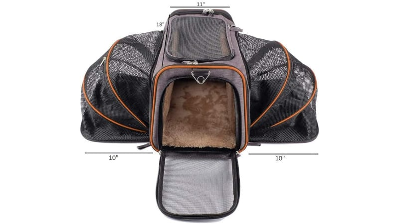 PetPeppy Premium Airline Approved Expandable Pet Carrier