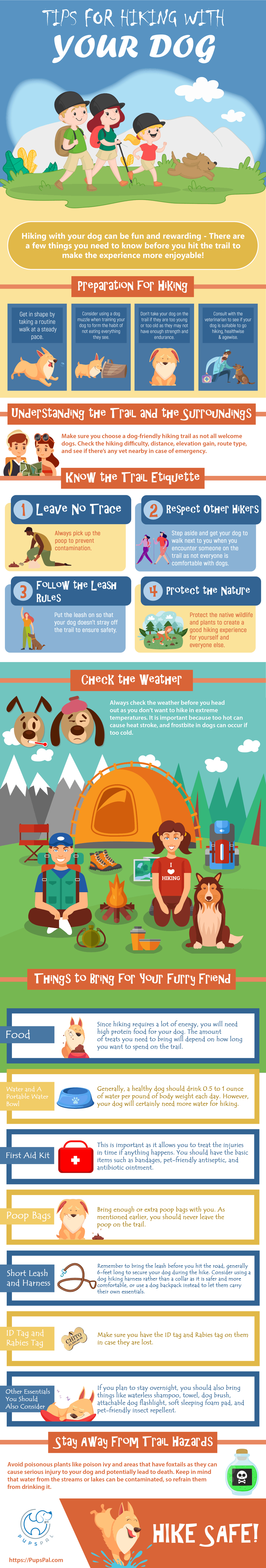 Tips for Hiking with Your Dog Infographic