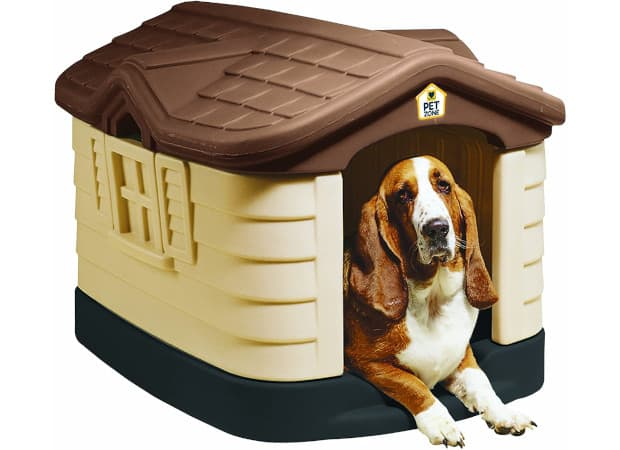 Pet Zone Cozy Cottage Weather-Resistant Dog House