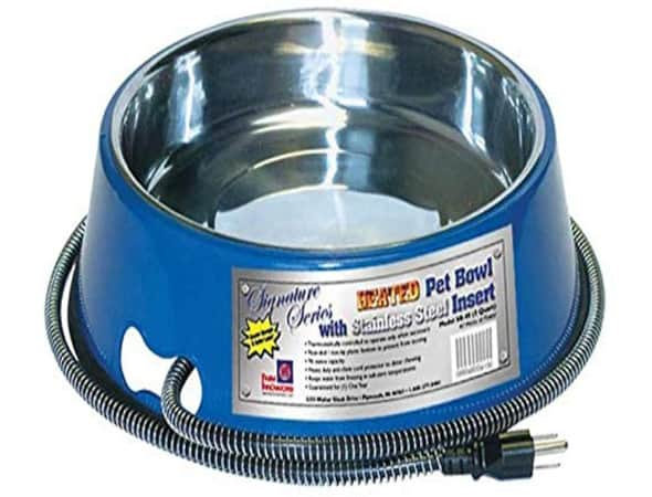Farm Innovators Heated Pet Bowl with Stainless Steel Bowl