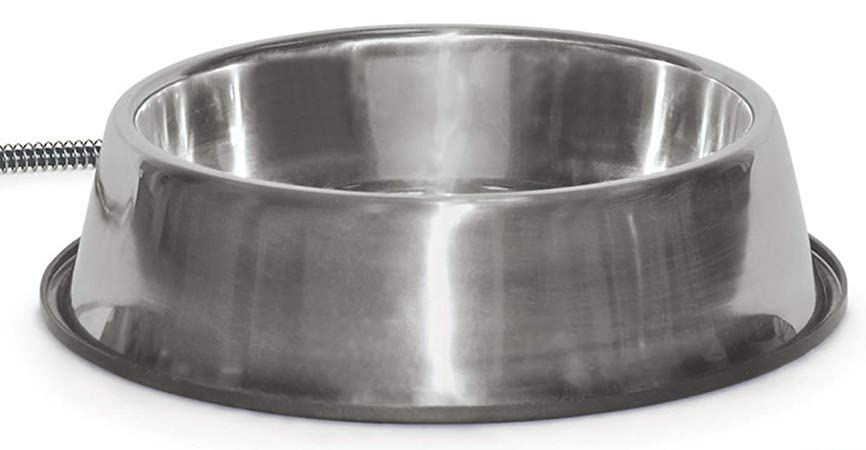 K&H Pet Products Thermal-Bowl Stainless Steel
