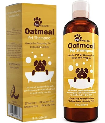 Pet Pleasant Colloidal Oatmeal Dog Shampoo for Dry Itchy Skin