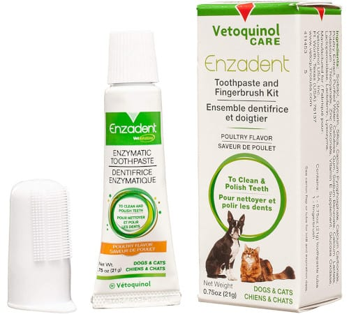 Vetoquinol Enzadent Enzymatic Oral Care Kit for Dogs & Cats